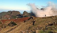 Madeira-Kraters in de bergen.