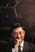 Physics: Samuel C.C. Ting (b.1936), Project Director of the L-3 Detector Experiment at CERN's Large Electron- Positron Collider (LEP). Sam Ting won the 1976 Nobel Prize for physics (shared with Burton Richter), following his discovery of the J/Psi particle at the Brookhaven Laboratory in 1974. The J/Psi particle, and the Psi-prime particle discovered by Richter, implied the existence of two new quarks, Charm and anti-Charm. The L-3 experiment at CERN is designed to search for the fundamental particles of nature and the mechanism by which they receive their mass. MODEL RELEASED [1988]