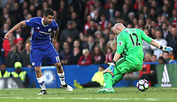 8 May 2017 - Premier League Football - Chelsea v Middlesbrough<br /> Diego Costa of Chelsea scores their 1st goal<br /> Photo: Charlotte Wilson