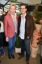Left to right, brothers HENRY CONWAY and  FREDDIE CONWAY at a party to celebrate the launch of the Taylor Morris Eyewear's Summer Collection held at The Chelsea Gardner, 125 Sydney Street, London on 20th May 2015.