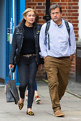 Emma Langford, 47, from Hampshire arrives at Uxbridge Magistrates Court where she is facing charges of assaulting 3 people aboard a British Airways flight, threatening crew members and criminal damage to airline crockery and glass tumblers. Uxbridge, Middlesex, May 29 2019.