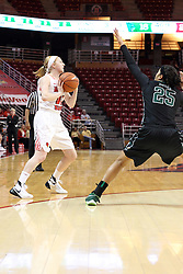 21 December 2015: Morgan Radtke(11) defended by Layne Murphy(25). Illinois State University Women's Basketball team hosted The Cougars of Chicago State at Redbird Arena in Normal Illinois.