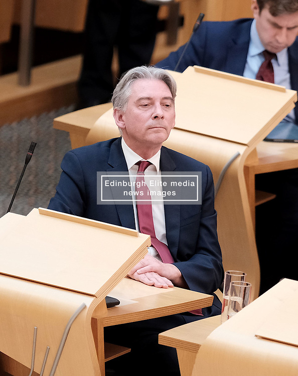 First Minister's Questions in the Scottish Parliament<br /> <br /> Thursday, 19th September 2019<br /> <br /> Pictured: Scottish Labour leader Richard Leonard<br /> <br /> Alex Todd | Edinburgh Elite media