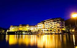 30.05.2011, Grandhotel, Zell am See, AUT, GRANDHOTEL ZELL AM SEE, im Bild das Grandhotel Zell am See in der blauen Stunde, mit wolkenlosen Himmel, EXPA Pictures © 2011, PhotoCredit: EXPA/ J. Feichter