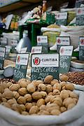 Curitiba_PR, Brasil...Mercado Municipal da cidade de Curitiba, Parana. Na foto detalhe de nozes...Municipal Market in Curitiba, Parana. In this photo mate herb...Foto: BRUNO MAGALHAES / NITRO