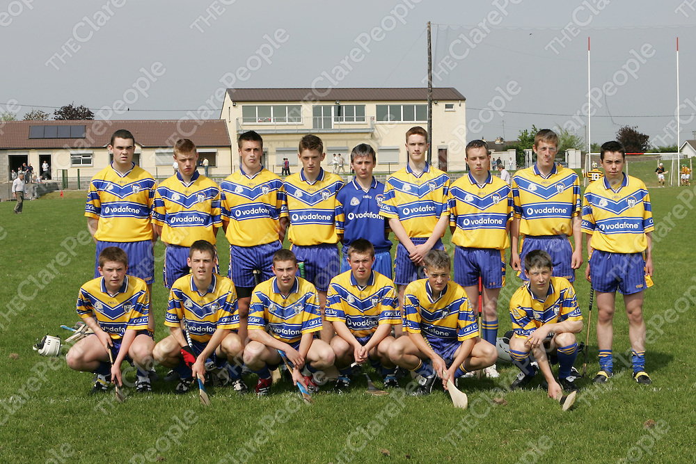 30/04/07<br />The East Clare Team who played Avondhu of Cork in the Munster U16 Inter-Divisional Hurling Championship 'A' Final Replay at Bruff GAA Grounds in Co. Limerick on Saturday.<br />Picture: Don Moloney / Press 22