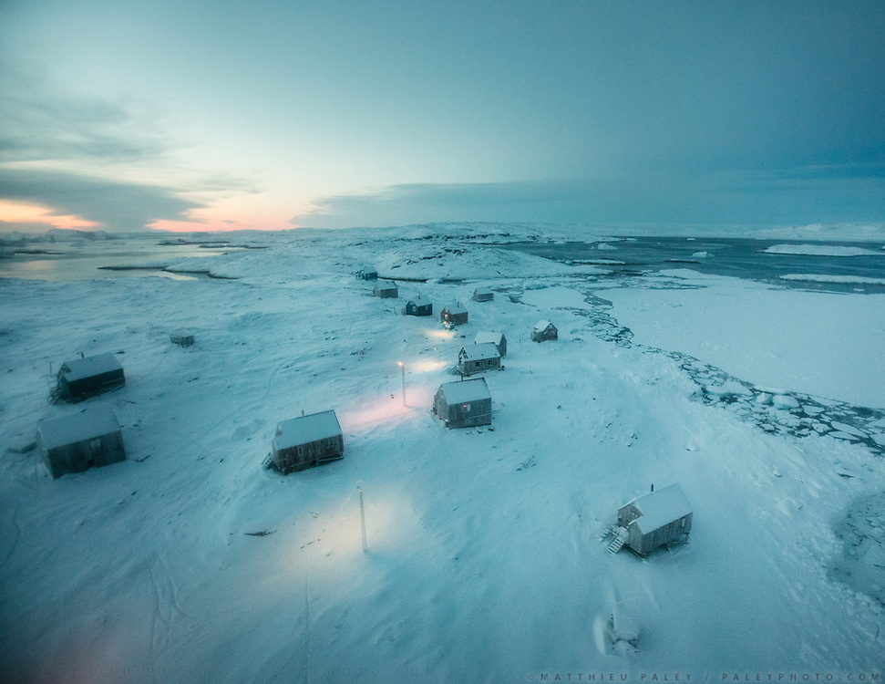 Nothing can grow in the arctic - a barren land of rock and ice. The 64 residents of the remote east Greenland village of Isortoq still hunt and fish but combine traditional Inuit foods with some market market.