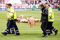Rayo Vallecano's Tito retires hurt during La Liga match. April 23,2016. (ALTERPHOTOS/Borja B.Hojas)