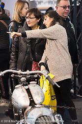 The LowRide Magazine custom bike show during Motor Bike Expo. Verona, Italy. January 24, 2016.  Photography ©2016 Michael Lichter.