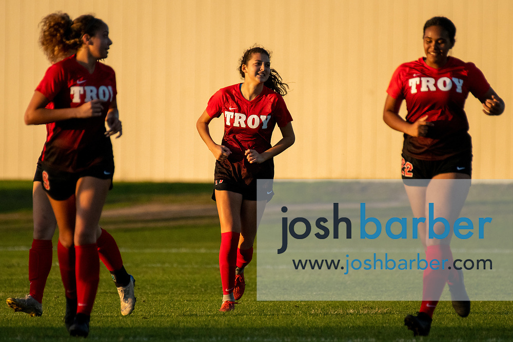 Troy's Isabella Ales (17) during a nonleague game at Troy High School on Thursday, December 12, 2019 in Fullerton, Calif. (Photo by Josh Barber for The Orange County Register/SCNG)