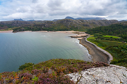 Gruinard Bay in Ross and Cromarty, Scotland, UK