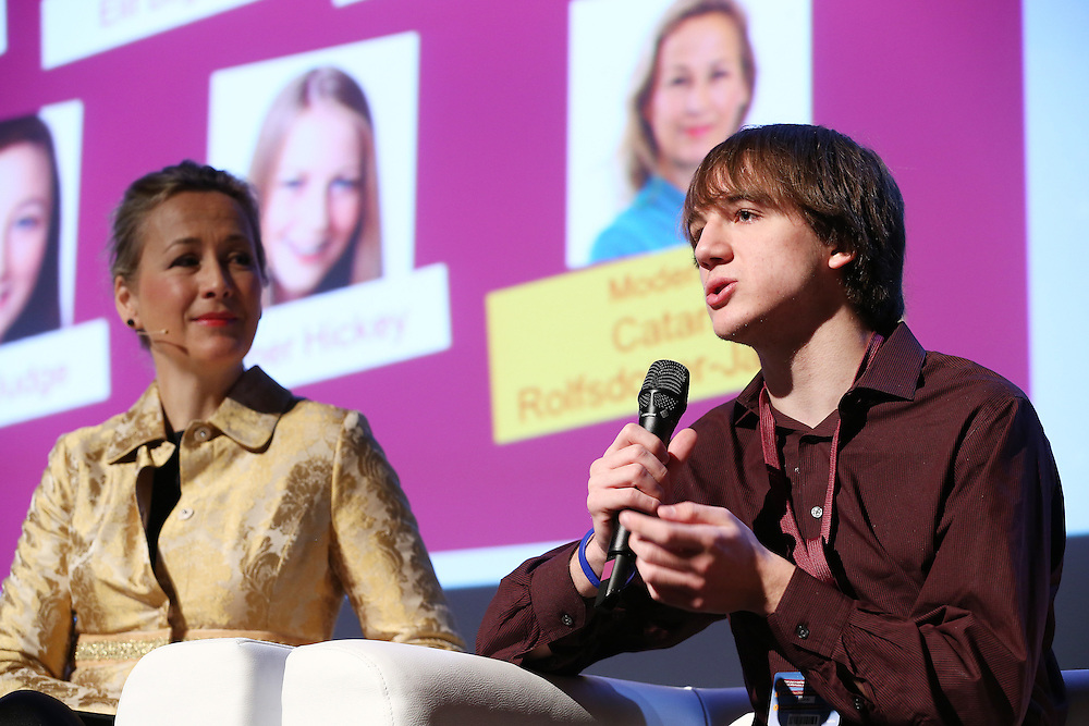 Belgium - Brussels - 10 March 2014 - Innovation Convention 2014 - Lessons from generation Z - What do young (18 and under) innovators think? - Catarina ROLFSDOTTER-JANSSON , Journalist, moderator, innovator - Jack ANDRAKA , Founder of cancer detector ©EC/CE