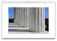 Springtime at the Lincoln Memorial in Washington D.C., USA