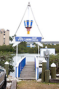 Entrance to JD's Boat Docks and Landing on the Clearwater Harbor which is part of the Gulf Intercoastal Waterway.  Indian Rocks Beach Tampa Bay Area Florida USA