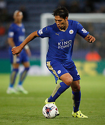 Leonardo Ulloa of Leicester City in action  - Mandatory byline: Jack Phillips/JMP - 07966386802 - 22/09/2015 - SPORT - FOOTBALL - Leicester - King Power Stadium - Leicester City v West Ham United - Capital One Cup Round 3