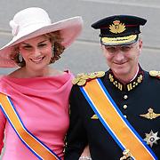 NLD/Amsterdam/20130430 - Inhuldiging Koning Willem - Alexander, prinses Mathilde en prince Filip van Belgie