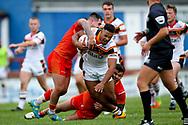 Bradford Bulls prop Jon Magrin (15) in action  during the Kingstone Press Championship match between Sheffield Eagles and Bradford Bulls at, The Beaumont Legal Stadium, Wakefield, United Kingdom on 3 September 2017. Photo by Simon Davies.