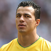 Leandro Damiao, Brazil, during the Brazil V Mexico Gold Medal Men's Football match at Wembley Stadium during the London 2012 Olympic games. London, UK. 11th August 2012. Photo Tim Clayton