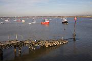 Fishing boats River Deben, Felixstowe Ferry, Suffolk, England