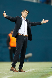 November 23, 2017 - Saint Petersburg, Russia - FK Vardar head coach Cedomir Janevski reacts during the UEFA Europa League Group L match between FC Zenit St. Petersburg and FK Vardar at Saint Petersburg Stadium on November 23, 2017 in Saint Petersburg, Russia. (Credit Image: © Mike Kireev/NurPhoto via ZUMA Press)