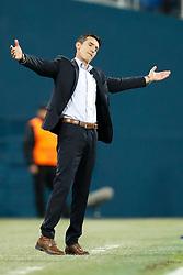 November 23, 2017 - Saint Petersburg, Russia - FK Vardar head coach Cedomir Janevski reacts during the UEFA Europa League Group L match between FC Zenit St. Petersburg and FK Vardar at Saint Petersburg Stadium on November 23, 2017 in Saint Petersburg, Russia. (Credit Image: © Mike Kireev/NurPhoto via ZUMA Press)
