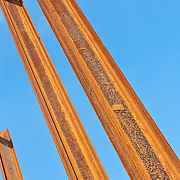 Low angle view of rusty metals