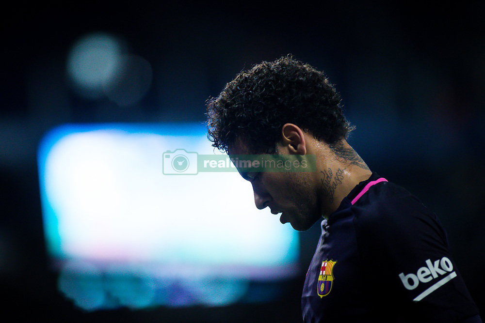 April 29, 2017 - Barcelona, Spain - BARCELONA, SPAIN. APRIL 29TH, 2017 - Neymar Jr during La Liga Santander matchday 35 game between Espanyol and FC Barcelona. RCDE Stadium. Photo by EALO | PHOTO MEDIA EXPRESS (Credit Image: © Ealo/VW Pics via ZUMA Wire/ZUMAPRESS.com)