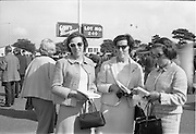 17/09/1968<br /> 09/17/1968<br /> 17 September 1968<br /> Goffs September Bloodstock sales at the RDS, Ballsbridge Dublin (2nd day). Picture shows (l-r): Mrs E. Hannigan, Mallow; Mrs C. O'Riordan, Fermoy and L. Ahern, Fermoy.