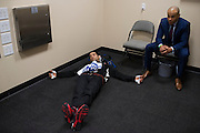DALLAS, TX - MARCH 14:  Beneil Dariush waits backstage before his fight against Daron Cruickshank during UFC 185 at the American Airlines Center on March 14, 2015 in Dallas, Texas. (Photo by Cooper Neill/Zuffa LLC/Zuffa LLC via Getty Images) *** Local Caption *** Beneil Dariush
