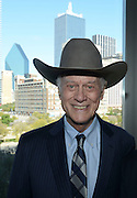 """Actor Larry Hagman, star of the """"I Dream of Jeanie"""" and """"Dallas"""" television series, shown here with the Dallas skyline, on 10/27/2012, died on Friday, 11/23/2012.<br /> <br /> Robert W. Hart/Special Contributor"""