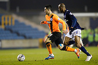 Brighton & Hove Albion's Beram Kayal in action during todays match  <br /> <br /> Photographer Craig Mercer/CameraSport<br /> <br /> Football - The Football League Sky Bet Championship - Millwall v Brighton and Hove Albion - Tuesday 17th March 2015 - The Den - London<br /> <br /> © CameraSport - 43 Linden Ave. Countesthorpe. Leicester. England. LE8 5PG - Tel: +44 (0) 116 277 4147 - admin@camerasport.com - www.camerasport.com