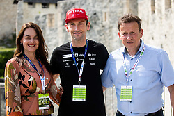 Katarina Karlovsek, Jakov Fak and Bojan Srot during 2nd Stage of 27th Tour of Slovenia 2021 cycling race between Zalec and Celje (147 km), on June 10, 2021 in Slovenia. Photo by Vid Ponikvar / Sportida