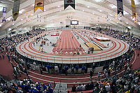 FAYETTEVILLE, AR - March 10:  Randal Tyson Track Center, indoor home of the Arkansas Razorback track and field team on the campus of the University of Arkansas during the NCAA Indoor Championships on March 10, 2007 in Fayetteville, Arkansas.   (Photo by Wesley Hitt/Getty Images) *** Local Caption ***