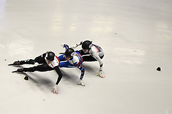 February 8, 2019 - Torino, Italia - Foto LaPresse/Nicolò Campo .8/02/2019 Torino (Italia) .Sport.ISU World Cup Short Track Torino - 500 meter Ladies Heats.Nella foto:  Natalia Maliszewska, Emina Malagich, Ye Jin Kim..Photo LaPresse/Nicolò Campo .February 8, 2019 Turin (Italy) .Sport.ISU World Cup Short Track Turin - 500 meter Ladies Heats.In the picture: Natalia Maliszewska, Emina Malagich, Ye Jin Kim (Credit Image: © Nicolò Campo/Lapresse via ZUMA Press)