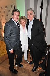Left to right, MICHAEL CRAWFORD, HOPE KENWRIGHT and BILL KENWRIGHT at the press night of the new Andrew Lloyd Webber  musical 'The Wizard of Oz' at The London Palladium, Argylle Street, London on 1st March 2011 followed by an aftershow party at One Marylebone, London NW1