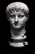 Portrait Head of Roman Emperor Nero circa AD 59-64. Nero Claudius Caesar Augustus Germanicus (15 December AD 37 – 9 June AD 68), born Lucius Domitius Ahenobarbus, also called Nero Claudius Caesar Drusus Germanicus, was the fifth and last Roman emperor of the Julio-Claudian dynasty. Nero was adopted by his great-uncle Claudius to become heir to the throne. As Nero Claudius Caesar Augustus Germanicus, he succeeded to the throne on 13 October 54, following Claudius's death. Facing assassination, he committed suicide on 9 June 68.[2]