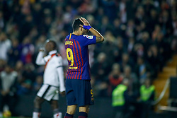 November 3, 2018 - Madrid, MADRID, SPAIN - Luis Suarez of FC Barcelona during the Spanish Championship, La Liga, football match between Rayo Vallecano and FC Barcelona on November 03th, 2018 at Estadio de Vallecas in Madrid, Spain. (Credit Image: © AFP7 via ZUMA Wire)