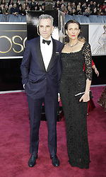 Daniel Day Lewis and Rebecca Miller arrive at the 85th annual Academy Awards held at the Dolby Theatre in Los Angeles on February 24, 2013. Francis Specker /Landov