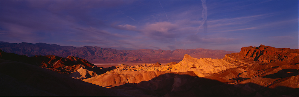 Manly Peak (Manly Beacon) at Zabriskie Point, Death Valley National Park, CA.