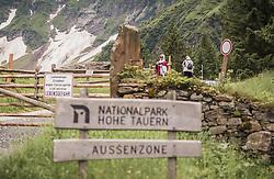 THEMENBILD - arabische und europäische Touristen gehen zum Hintersee. Der Hintersee ist ein kleiner Gebirgssee in 1313 m Höhe im Talschluss des Felbertals in Mittersill. Der Bergsee ist ein Naturdenkmal und wurde unter Schutz gestellt. Der Hintersee gilt als Geheimtipp, ein Platz, den man gesehen haben muss und Erholungsgebiet., aufgenommen am 23. Juni 2019, Mittersill, Österreich // Arab and European tourists go to the rear lake. Hintersee is a small mountain lake 1313 m above sea level at the end of the Felbertal valley in Mittersill. The mountain lake is a natural monument and was placed under protection. The Hintersee is an insider tip, a place you must have seen and a recreation area on 2019/06/23, Mittersill, Austria. EXPA Pictures © 2019, PhotoCredit: EXPA/ Stefanie Oberhauser