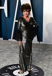 Joan Collins attending the Vanity Fair Oscar Party held at the Wallis Annenberg Center for the Performing Arts in Beverly Hills, Los Angeles, California, USA.