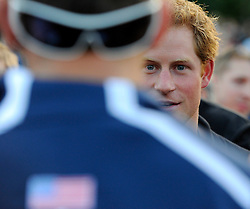 His Royal Highness, Prince Harry talks with members of the US invictus team - Photo mandatory by-line: Joe Meredith/JMP - Mobile: 07966 386802 - 9/09/14 - Winfield reception for the Invictus Games - London - Winfield House