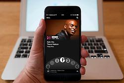 Using iPhone smartphone to display show on BBC radio 1x  Network radio station