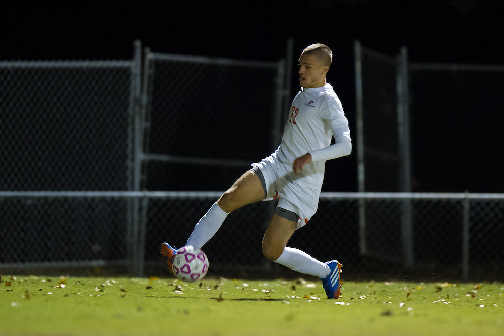 Oct 23, 2013; Morrow, GA, USA; Clayton State men's soccer player Nikola Gazibara against Georgia Southwestern at CSU. CSU won 3-2. Photo by Kevin Liles/kevindliles.com