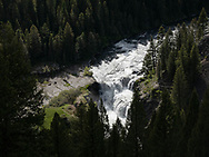 Lower Mesa Falls, on Henry's Fork of the Snake River, plummets 65 feet on Monday, May 31, 2021, in the Caribou-Targhee National Forest near Ashton, Idaho. (© 2021 Cindi Christie/Cyanpixel)