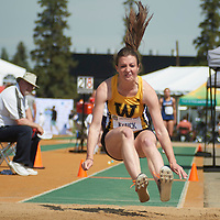 Laura Klinck competes in the Women Triple Jump Junior Qualifying round at the Athletics Canada 2016 Olympic Trials in Edmonton.