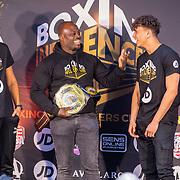 NLD/Rotterdam/20200224 - Stare down Boxing Influencers 2020, Nesim el Ahmadi vs. Luca Gilliot