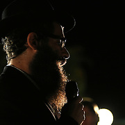 Rabbi Chaim Lipskier prays during a candlelight vigil in memory of American freelance journalist Steven Sotloff at the University of Central Florida in Orlando, Florida, USA, 03 Septemvber 2014. Sotloff was reportedly executed by the Islamic State according to a video released by the group on 02 September. Sotloff was a former student at the university.
