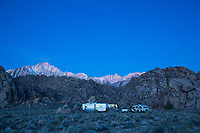 Camping in the Alabama Hills, California.