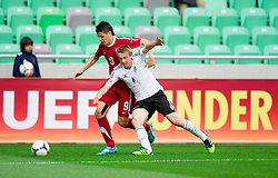 Mariusz Stepinski of Poland vs Nico Brandenburger of Germany during the UEFA European Under-17 Championship Semifinal match between Germany and Poland on May 13, 2012 in SRC Stozice, Ljubljana, Slovenia. (Photo by Vid Ponikvar / Sportida.com)